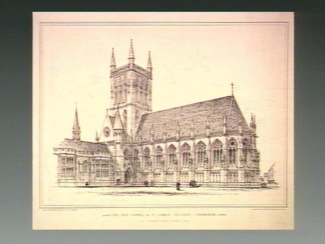 File:St John's College, Cambridge; the chapel. Transfer lithograp Wellcome V0012390.jpg