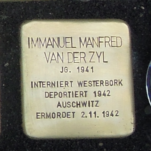 Stolperstein für Immanuel Manfred van der Zyl