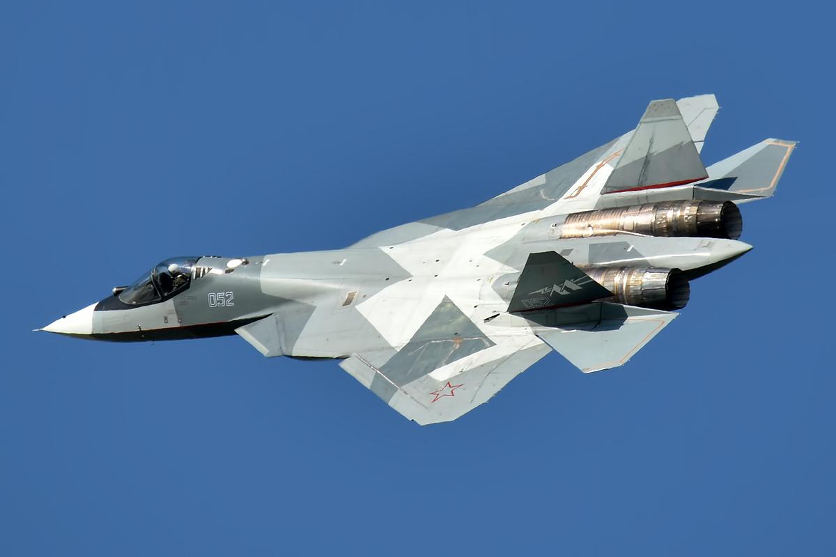 File:Sukhoi Design Bureau, 052, Sukhoi Su-57 (49580577453).jpg - Wikimedia Commons