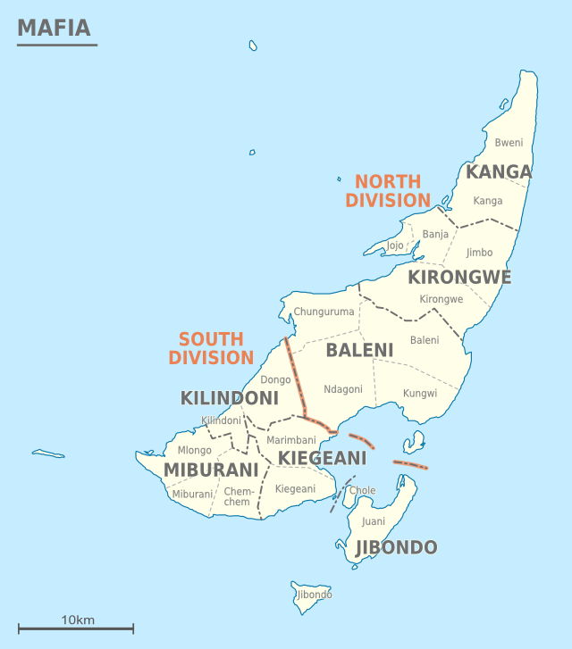 Map Of Africa Zanzibar.Mafia Island Wikipedia