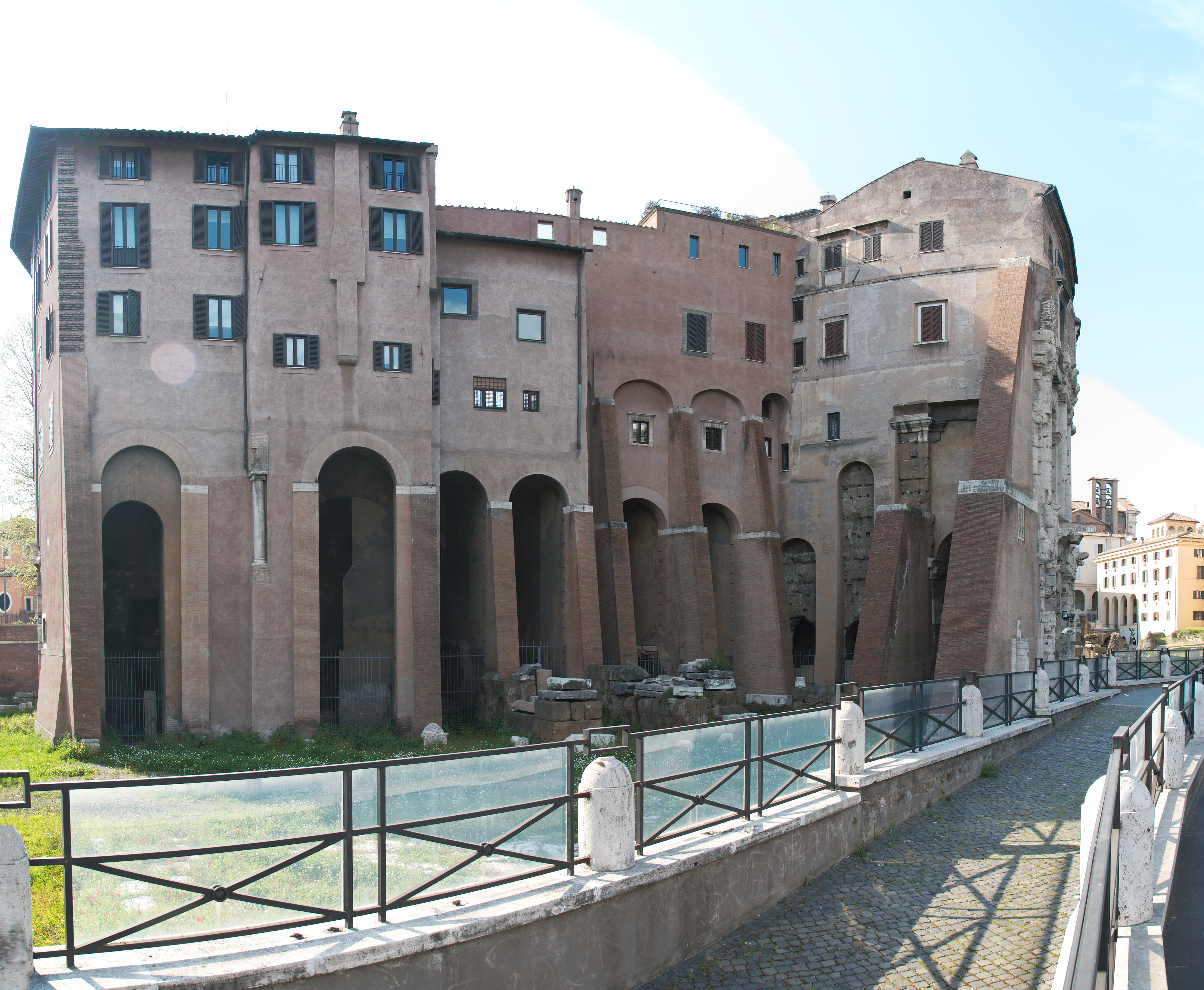 File Theatre Of Marcellus Rome Backside Jpg