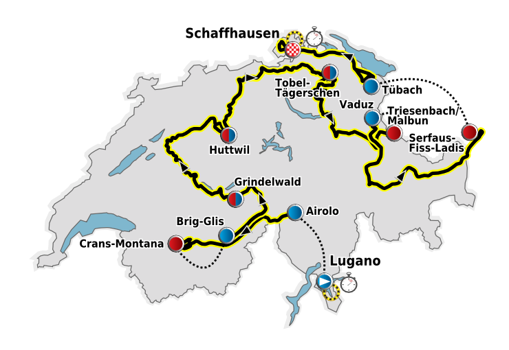 Depiction of Vuelta a Suiza 2011