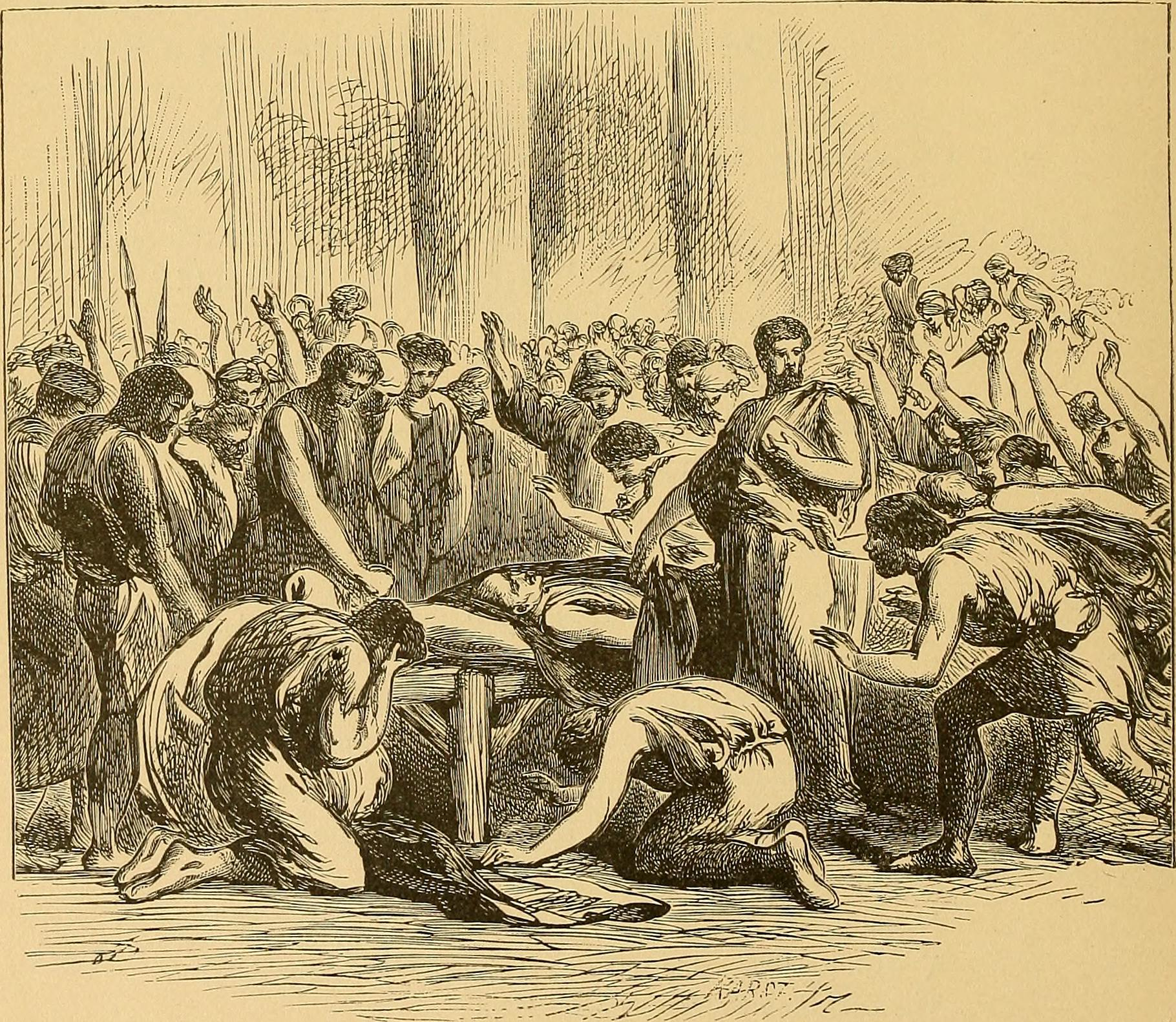 a summary of act i scene i of the play julius caesar Summary act i scene 1 this scene is set on a street in rome flavius and marullus (roman tribunes, elected officials of the roman republic) encounter a group of commoners who are away from work.
