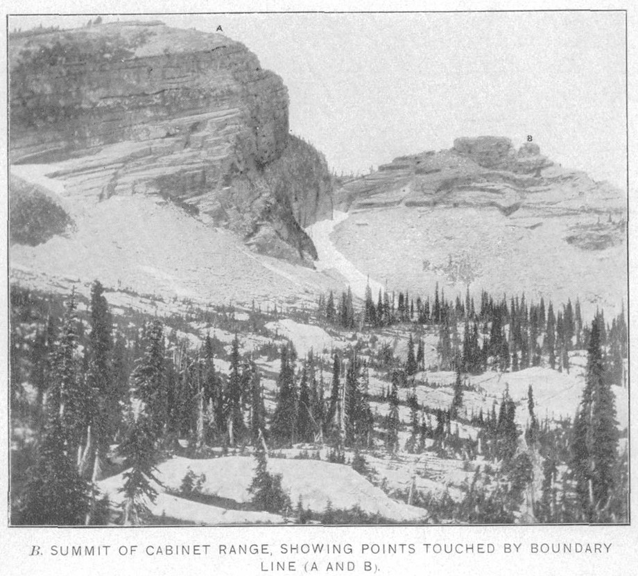 File:USGS Idaho Montana 1900 Summit Cabinet Mountains Boundary Points