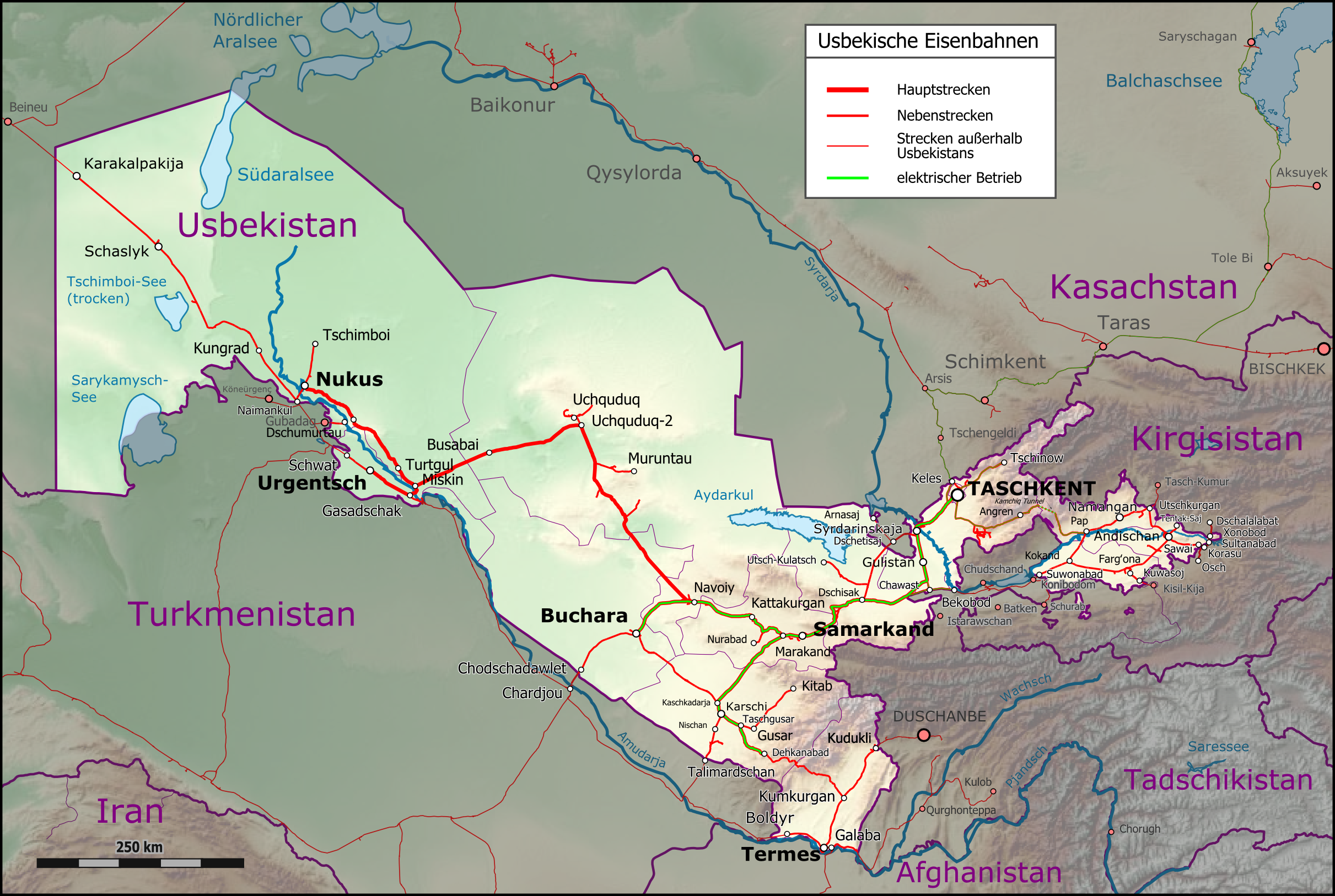 Uzbekistan Railway Networkpng UserChumwaOgreBotTransport Maps2015 April 1 10