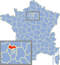 Situation du Val-d'Oise en France.