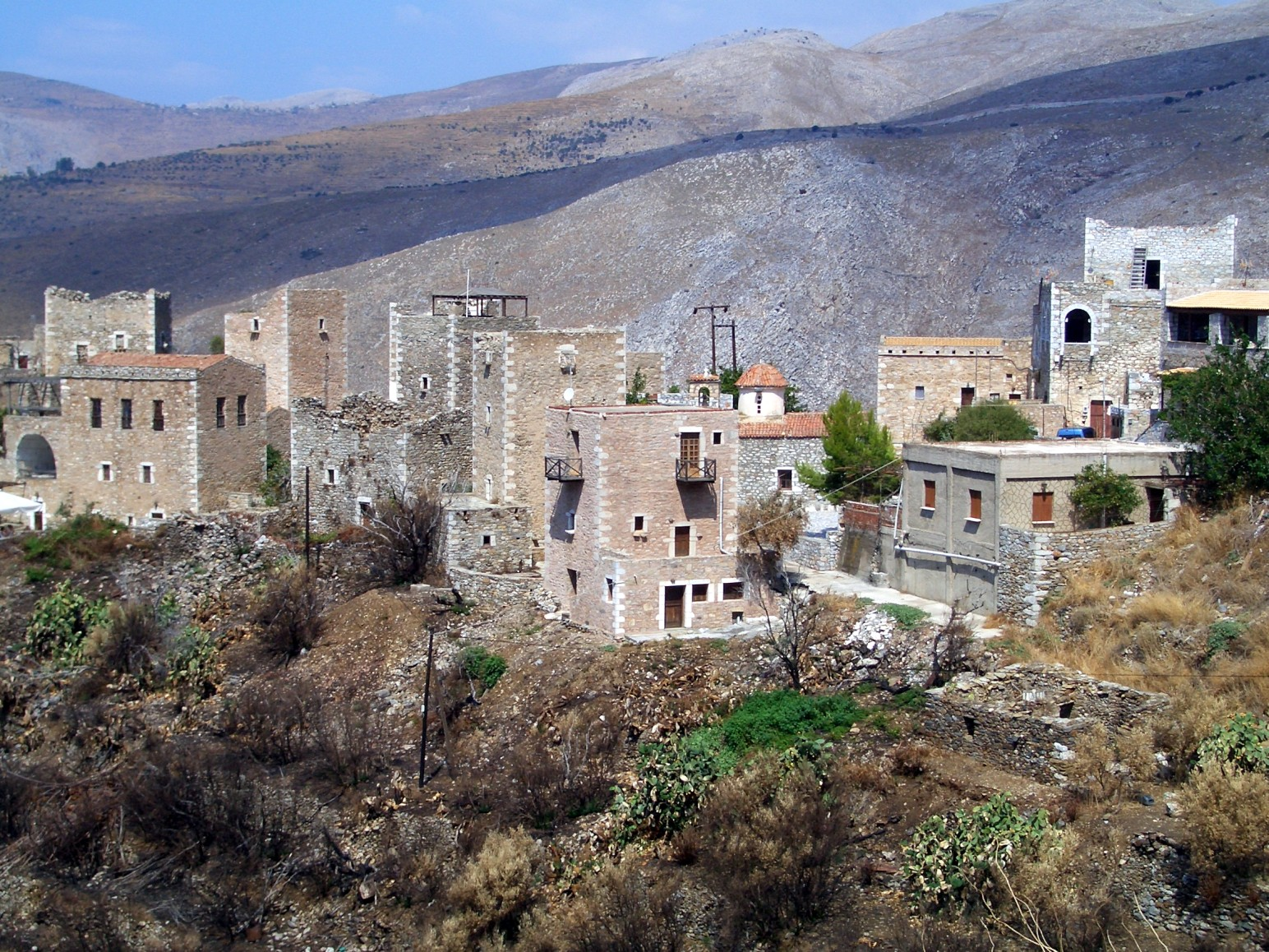 German Village File Vathia Mani Greece 3 Jpg Wikimedia Commons