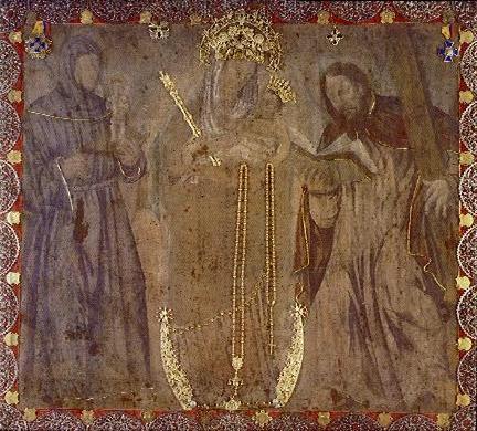 Bildet i basilikaen i Chiquinquirá i Colombia