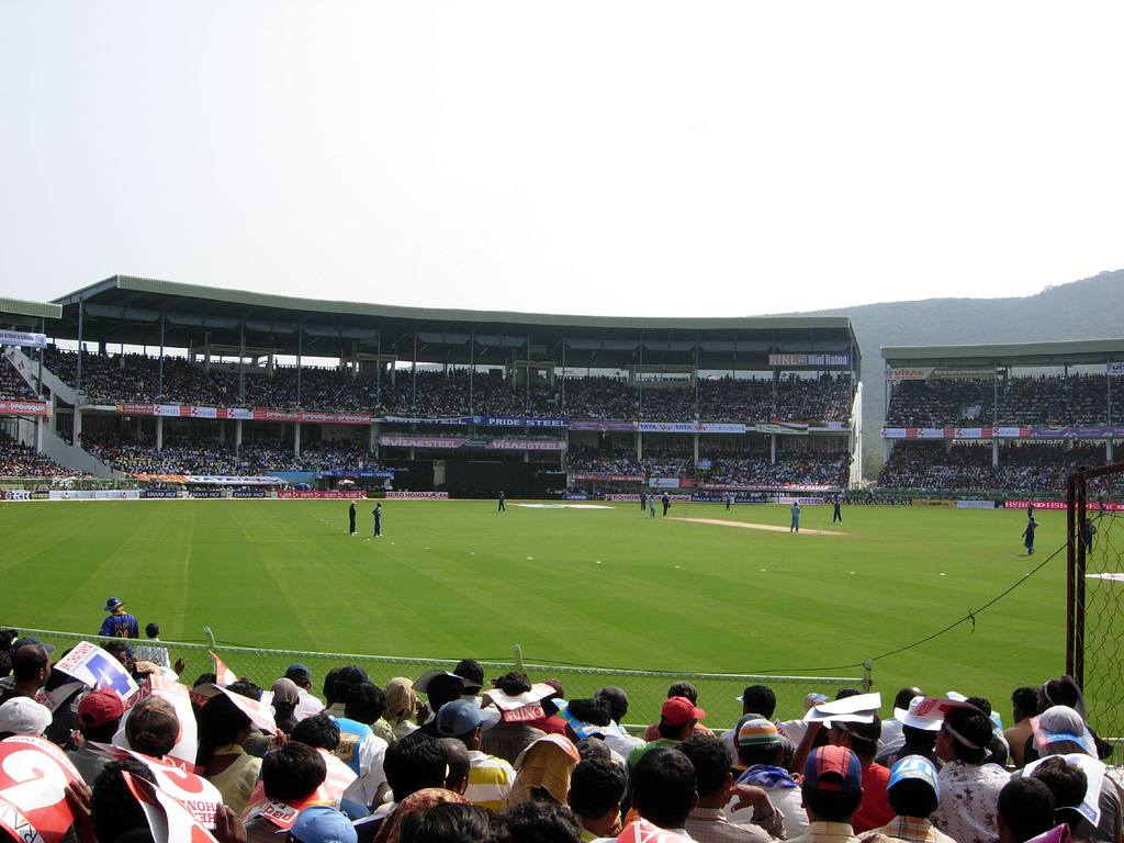 YSR Cricket Stadium at Madhurawada hosting the India-Sri Lanka ODI.