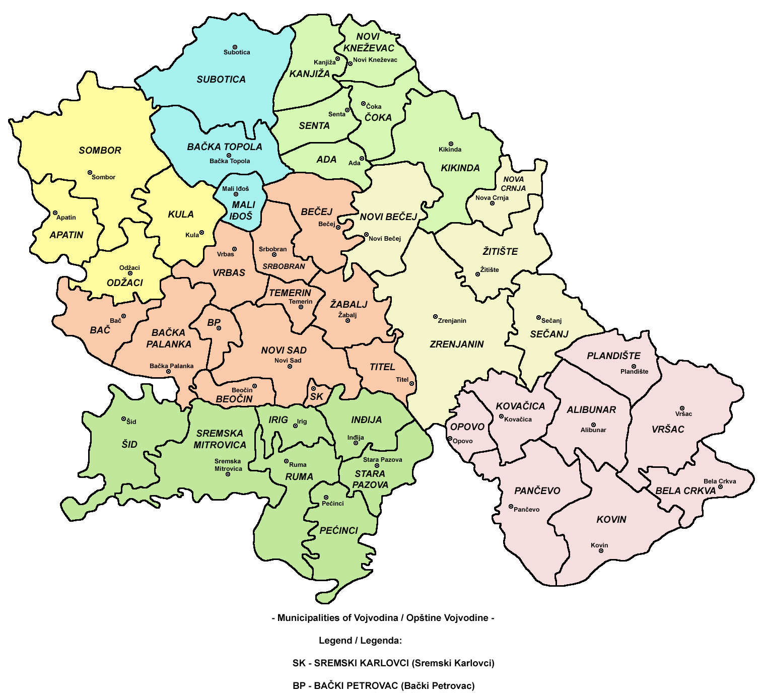 karta vojvodine po opstinama Ohne Titel   Worldnews.com karta vojvodine po opstinama