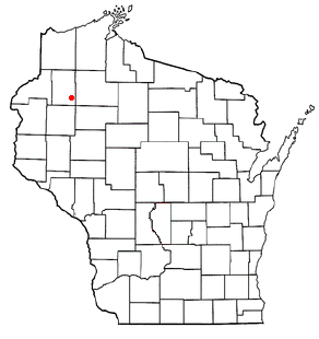Location of Birchwood (town), Wisconsin