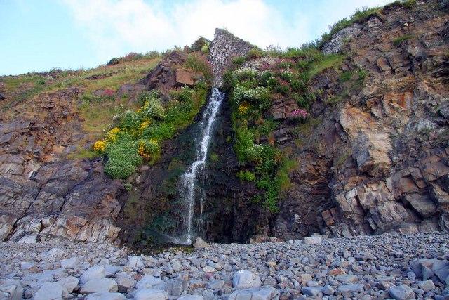 Waterfall at Buck's Mills - geograph.org.uk - 1387020