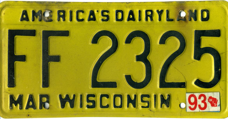 Brojimo u slikama - Page 13 Wisconsin_1993_license_plate_-_FF_2325