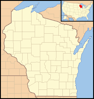 Location map Wisconsin