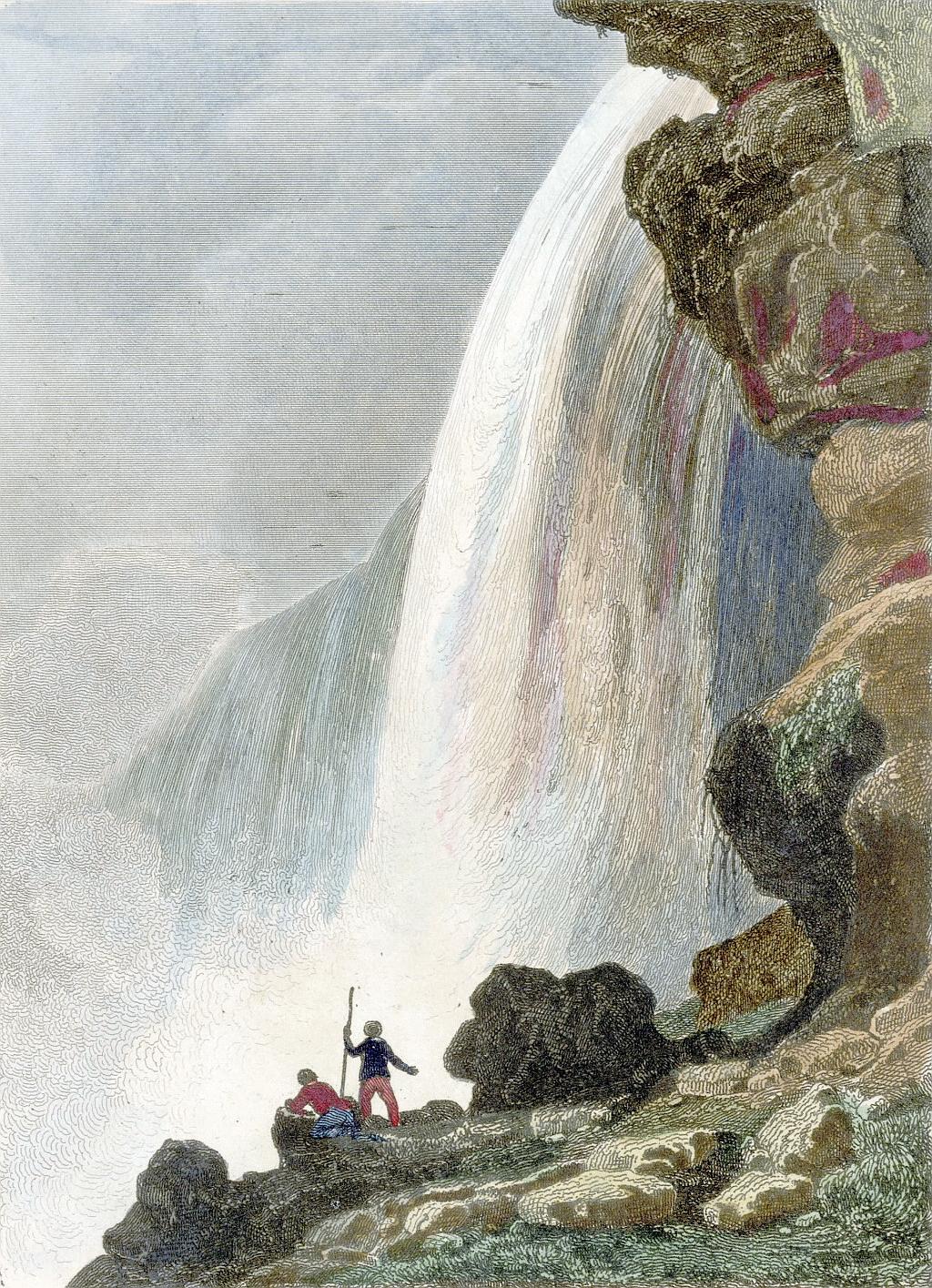 Voute sous la Chute du Niagara - Niagara Falls, circa 1841