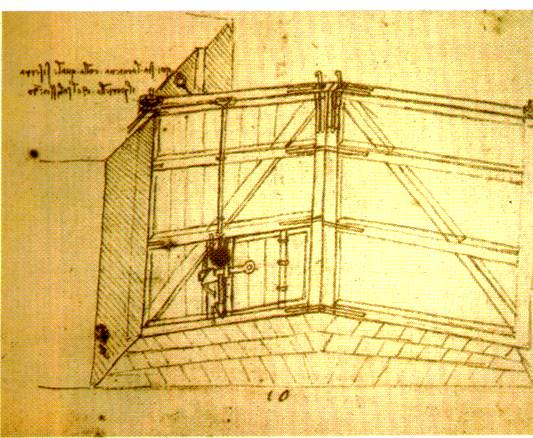 Da Vinci's canal lock