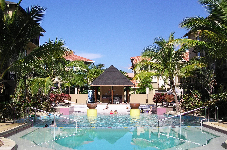 Resort hotel beach