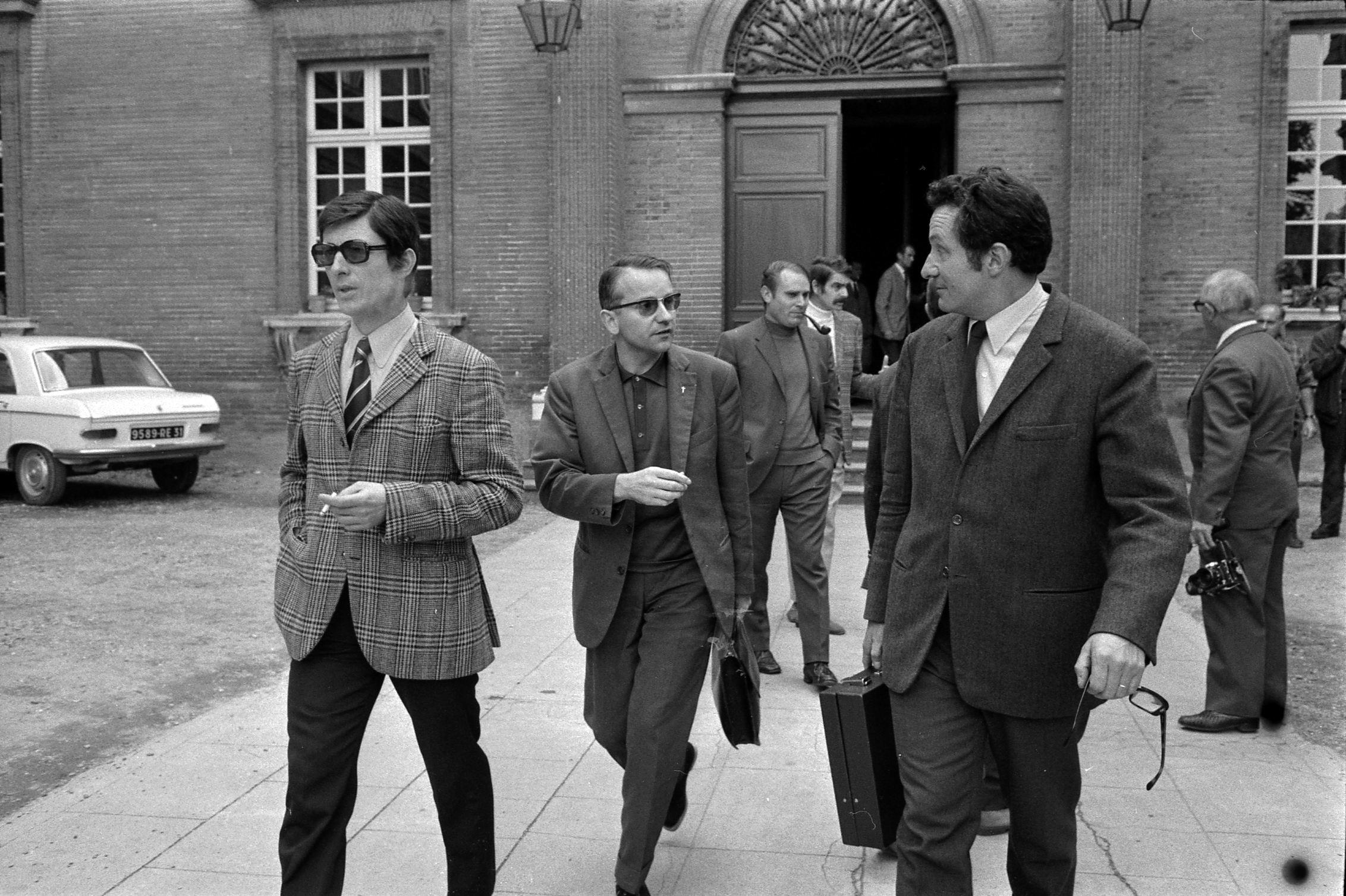 File:05.10.71 Procès René Vignal les témoins Danos, Leduc, Zatelli,