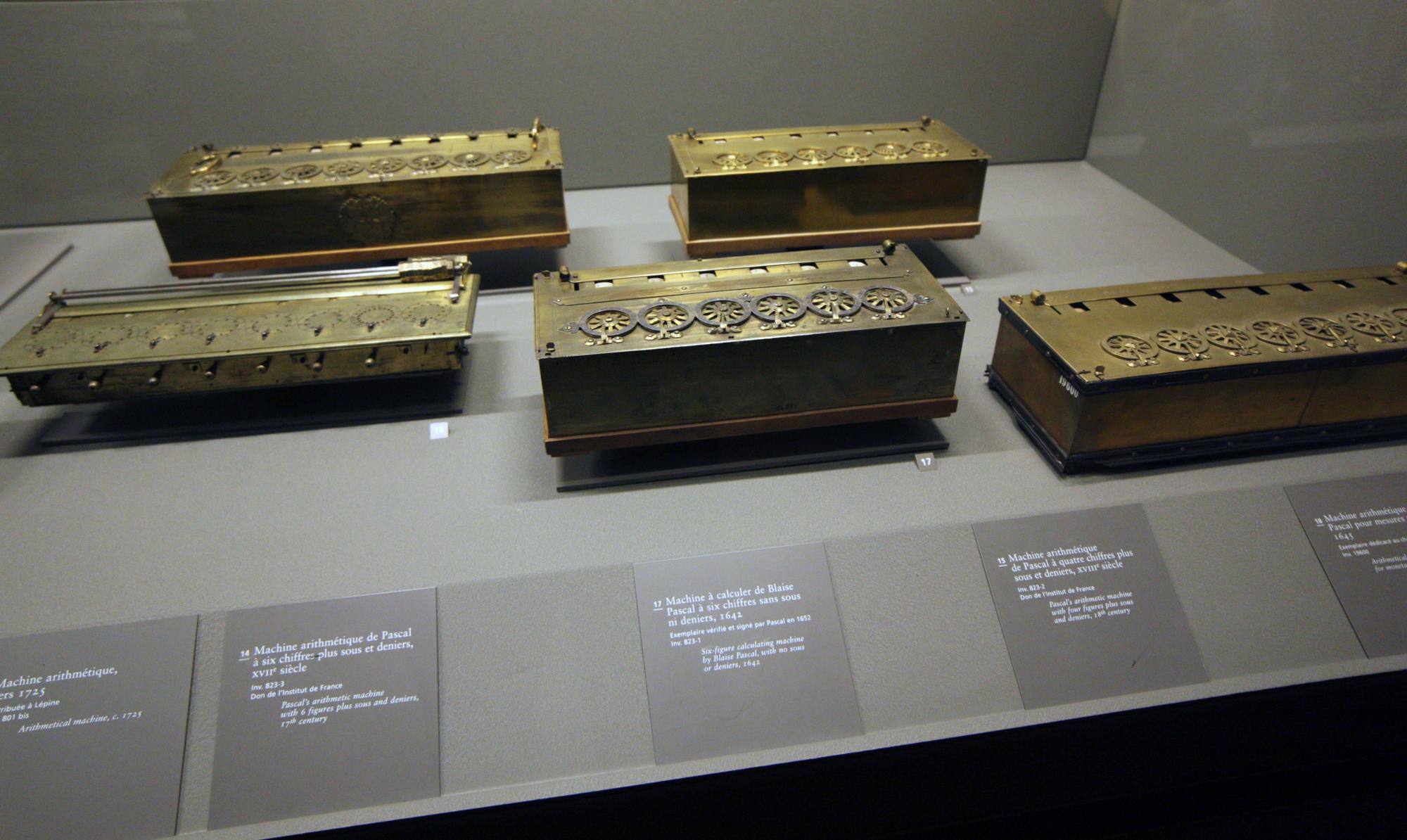 17th century mechanical calculators