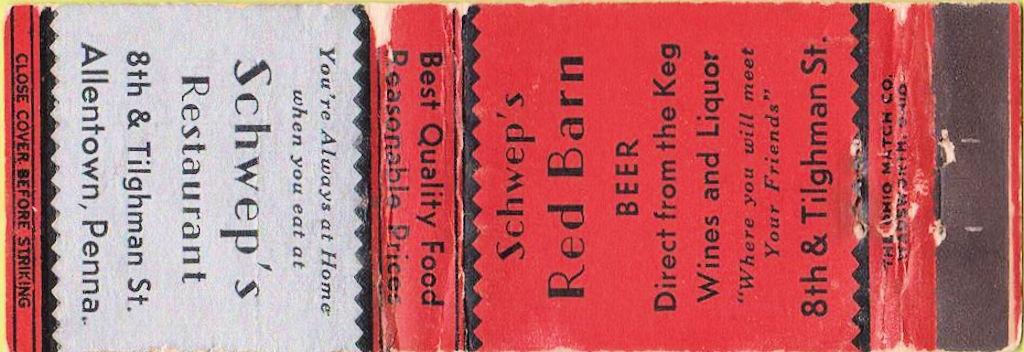File:1948 - Schweps Red Barn Restaurant Matchcover Allentown