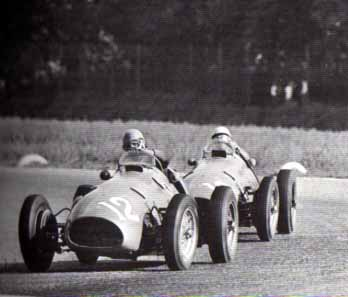 Ascari and Villoresi in action at the 1952 Gran Premio d'Italia Ferrari500F2.jpg