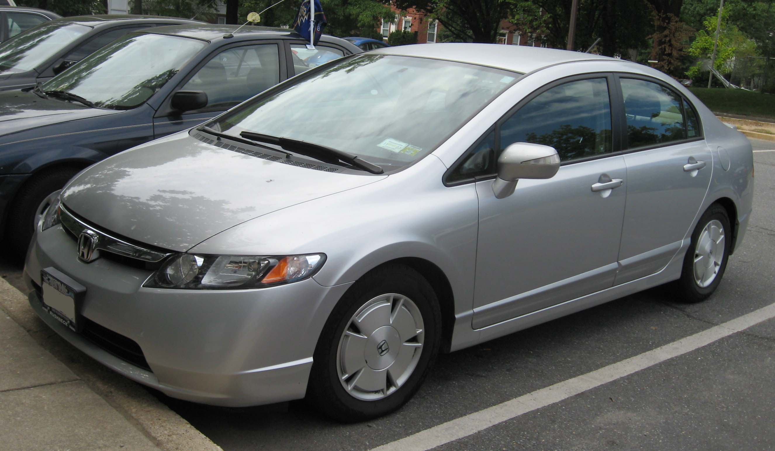 File 2006 2007 Honda Civic Hybrid Jpg Wikimedia Commons