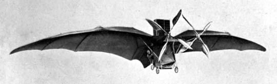 L'Avion III de Ader, conçu 7 ans plus tard sur les bases d'Éole.