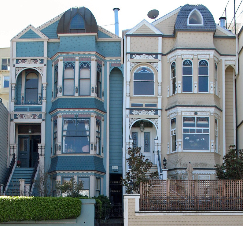 File albert wilford houses san francisco jpg wikimedia for Blue house builders