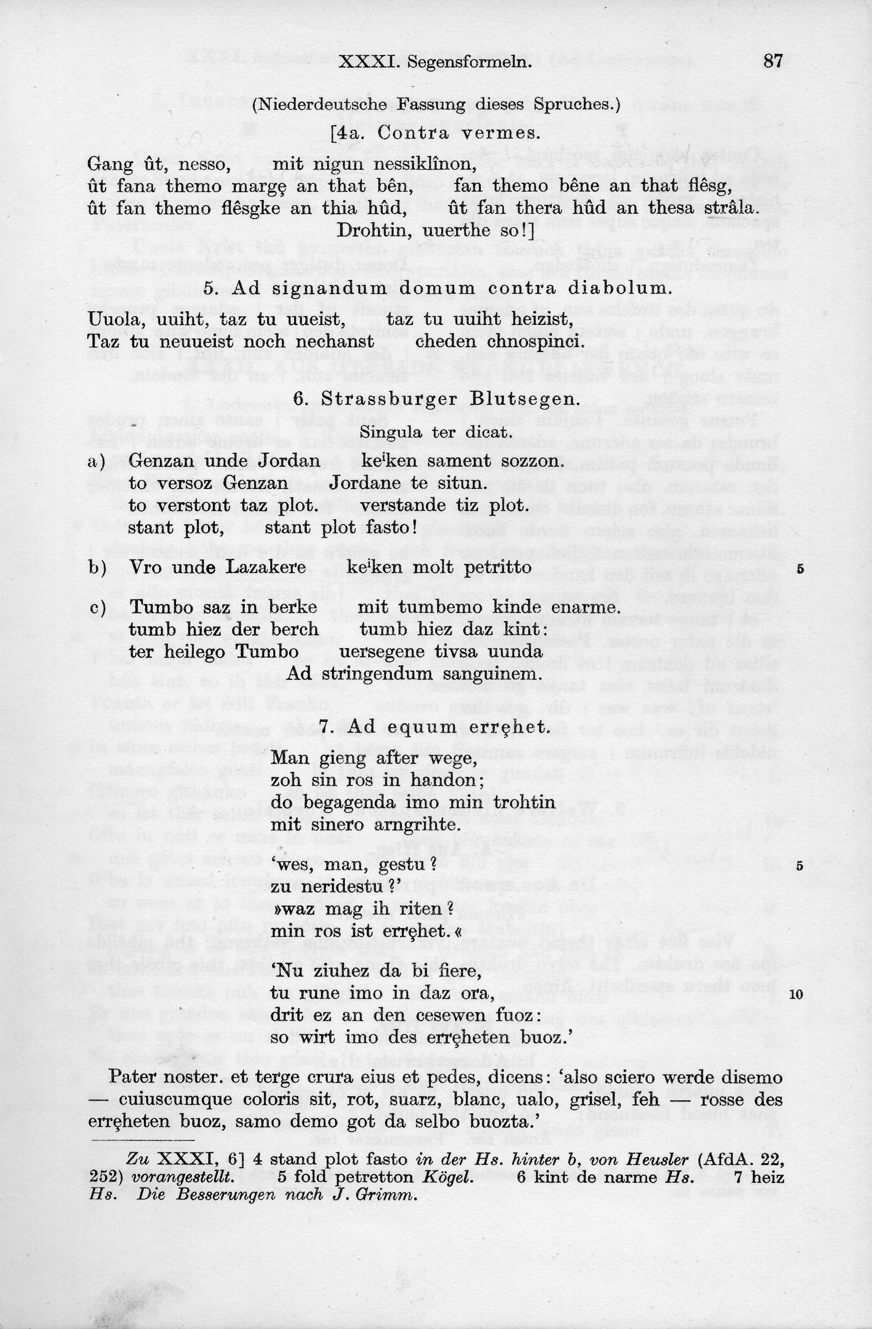 Schön File:Althochdeutsche Zaubersprüche 02