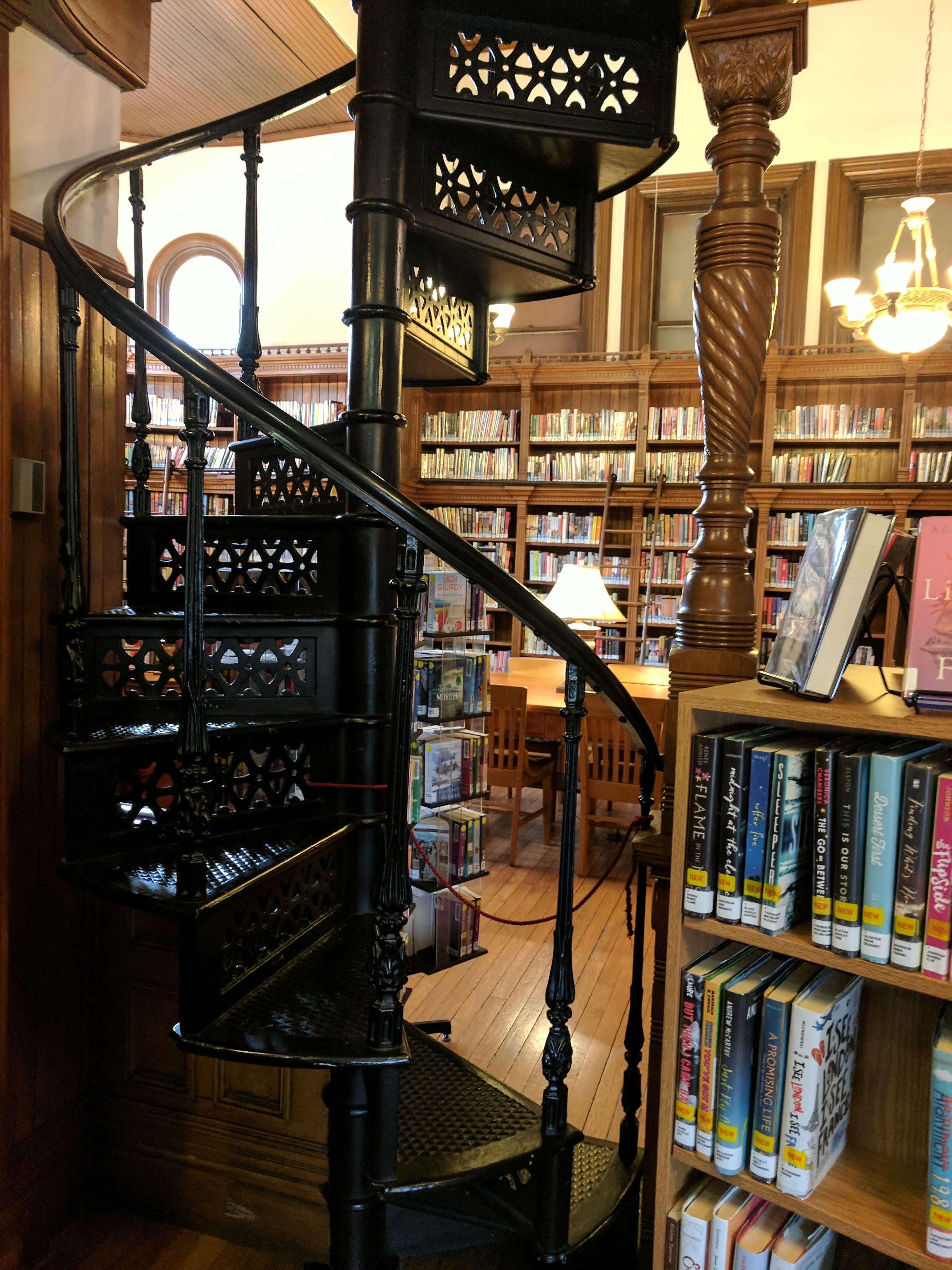 File Amelia S Givin Free Library Reading Room Spiral Staircase Jpg Wikimedia Commons