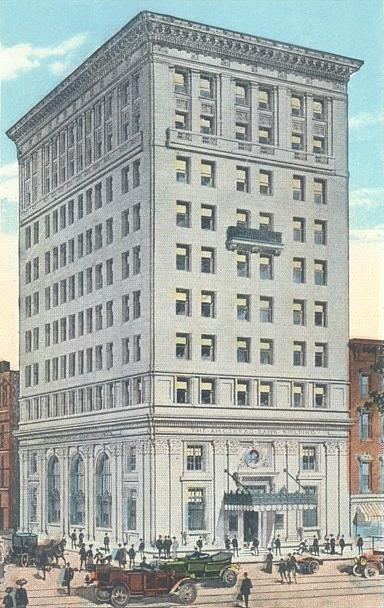 "Amoskeag Bank in 1913: At 10 stories, it was Manchester's ""skyscraper"" for over a half-century. Amoskeag Bank Building, Manchester, NH.jpg"