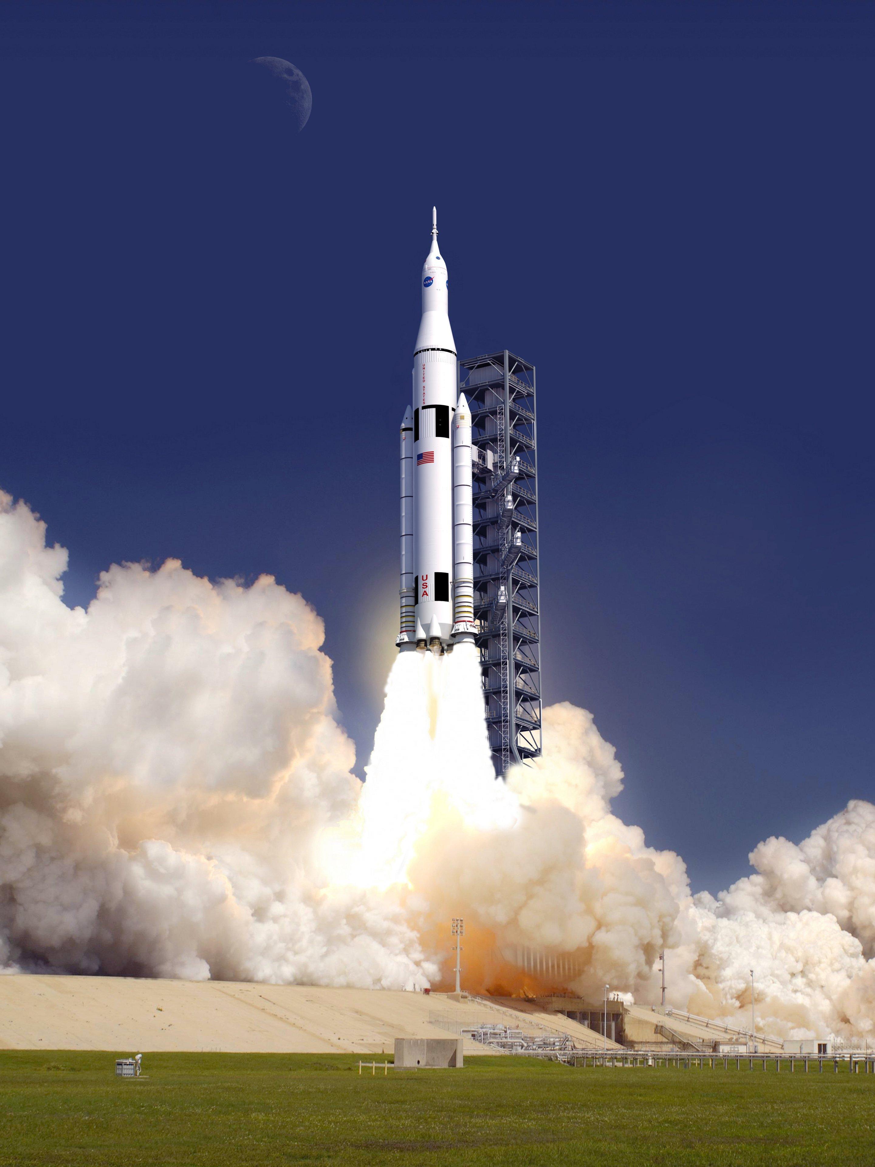 La NASA presentó el primer cohete que volará a Marte Art_of_SLS_launch