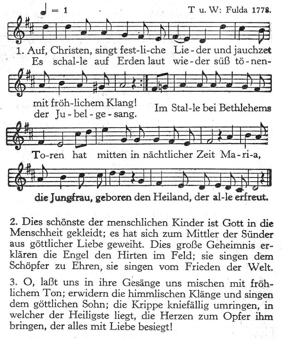 Auf, Christen, singt festliche Lieder – Wikipedia