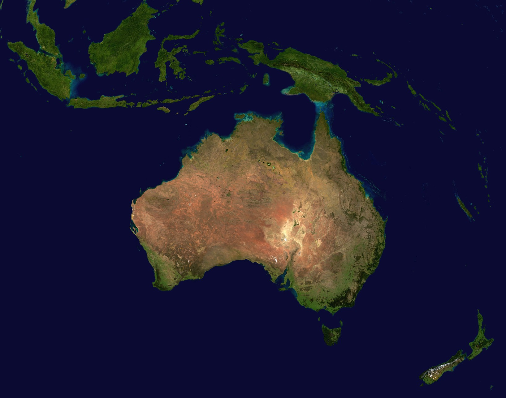Image result for Australia satellite map