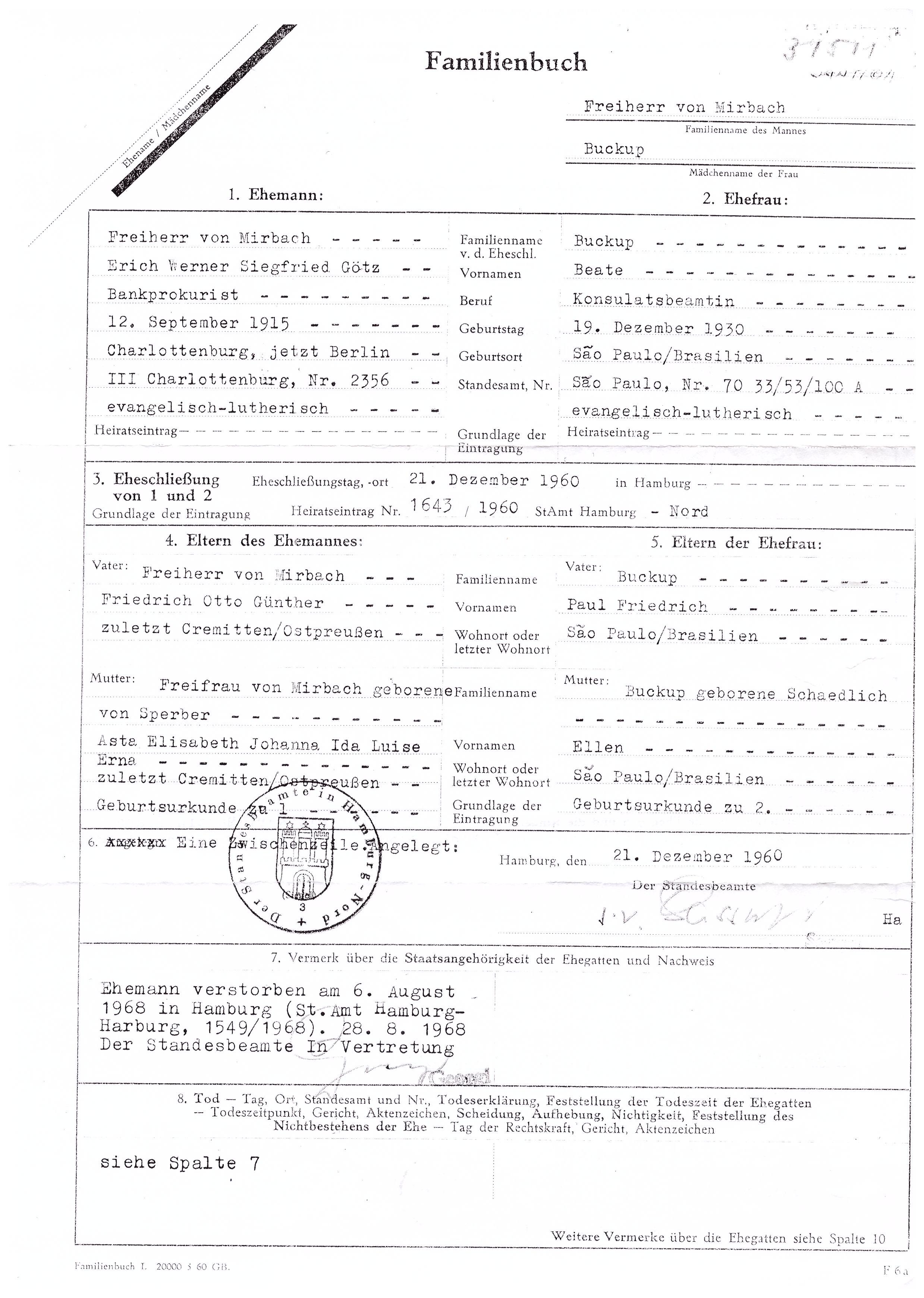 Registerangaben in Sterbeurkunde - Ahnenforschung.Net Forum