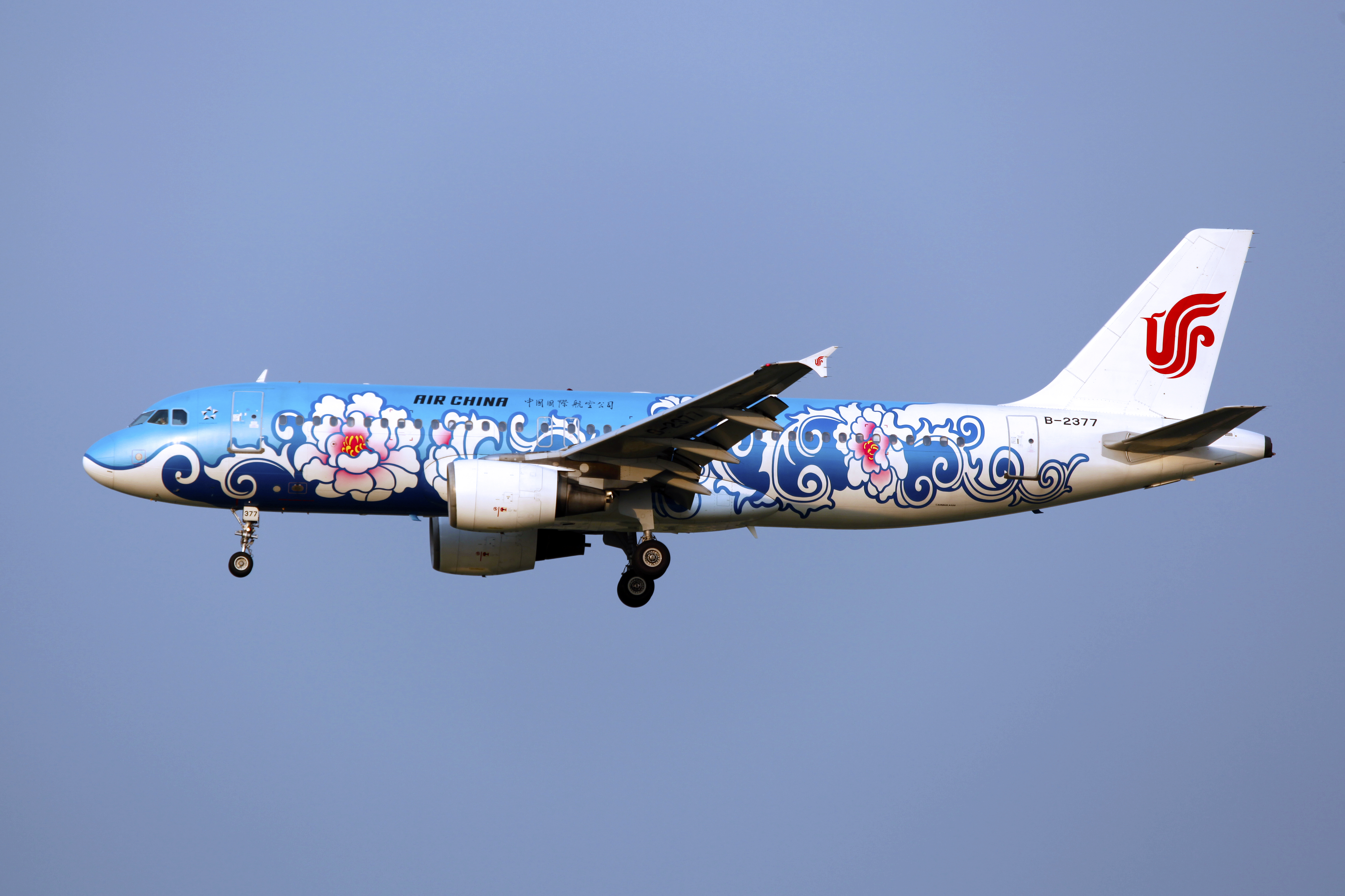 File:B-2377 - Air China - Airbus A320-214 - Blue Peony