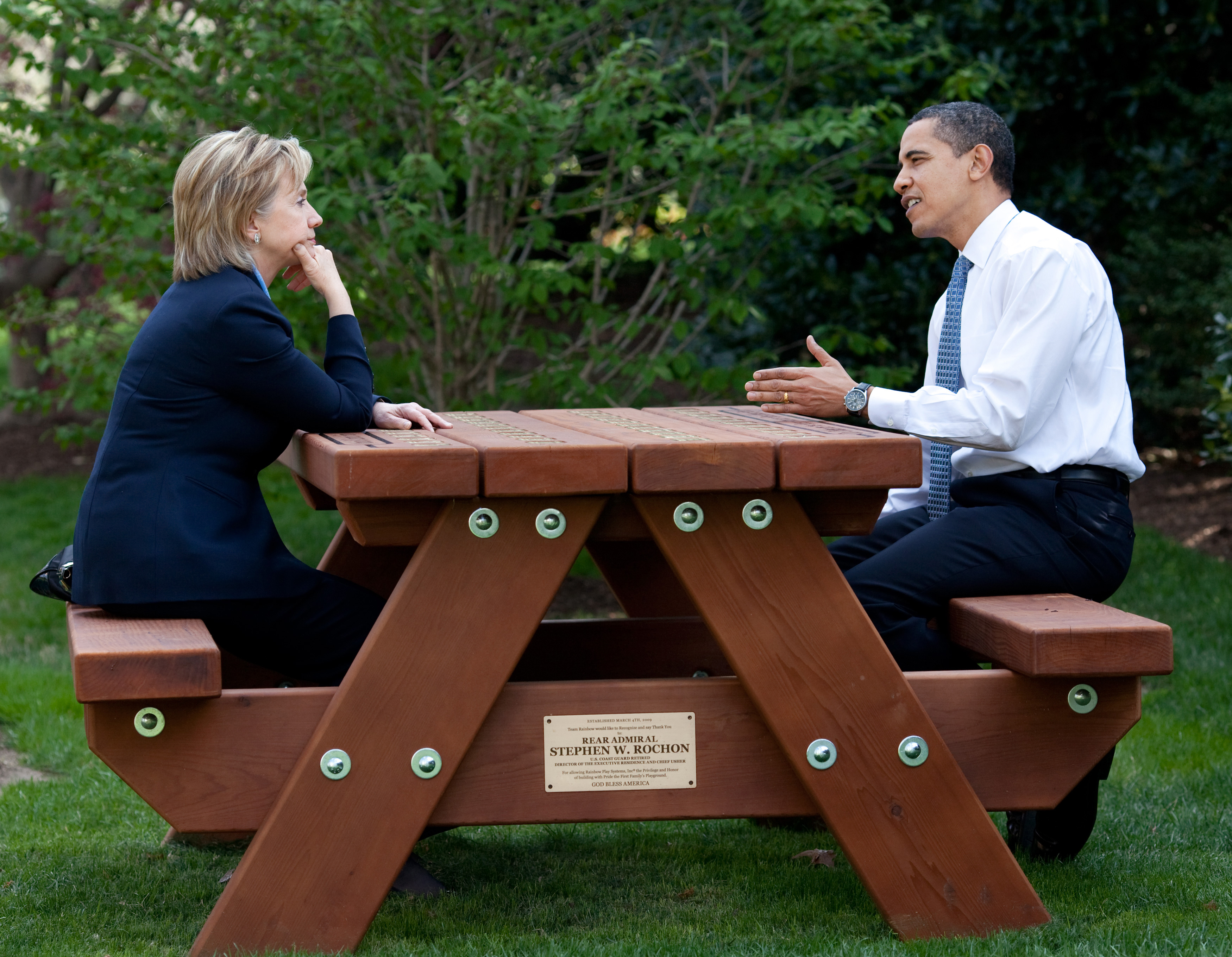 File Barack And Hillary Clinton Speakings Together Jpg