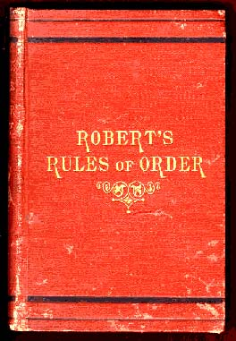 File book cover robert 39 s rules of order orig 1876 for Student congress resolution template