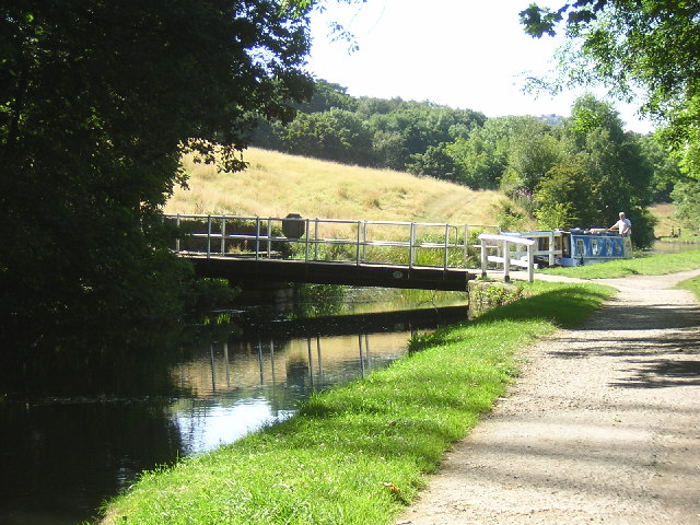 Buck Hill Swing Bridge. Crossing the Leeds and Liverpool Canal, between Thackley and Baildon