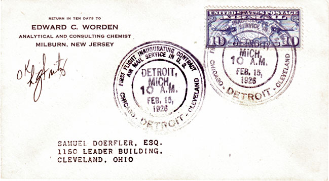 1926 : Dearborn Hosts First Contract Airmail Service in Country