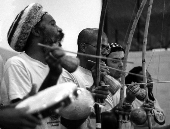 Capoeira bateria in Baltimore, MA, featuring Mestre Cobra Mansa