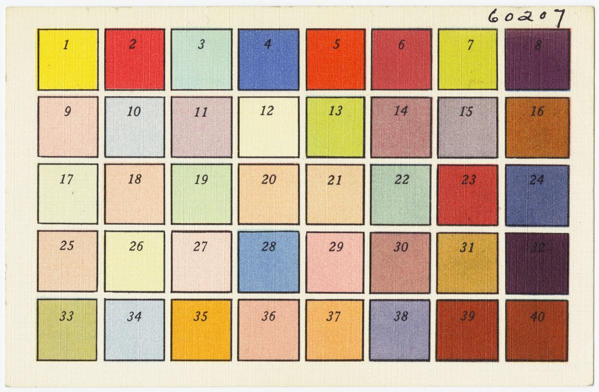 Sharpie Color Chart: Color Chart Tichnor Bros. Inc. Boston Mass.jpg - Wikimedia ,Chart