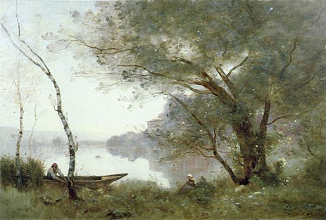 Corot - Boatman of Mortefontaine