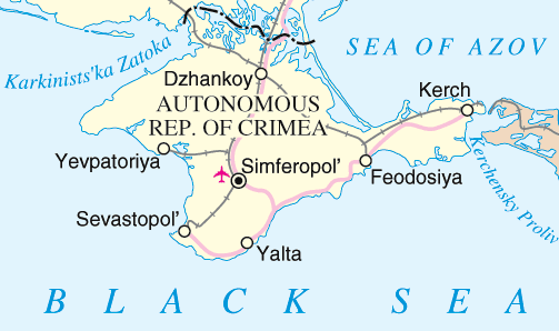 Crimea detail map
