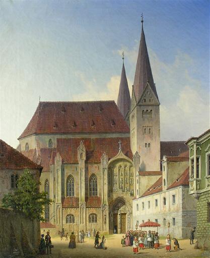 Dom zu Augsburg Prozession 19 Jh