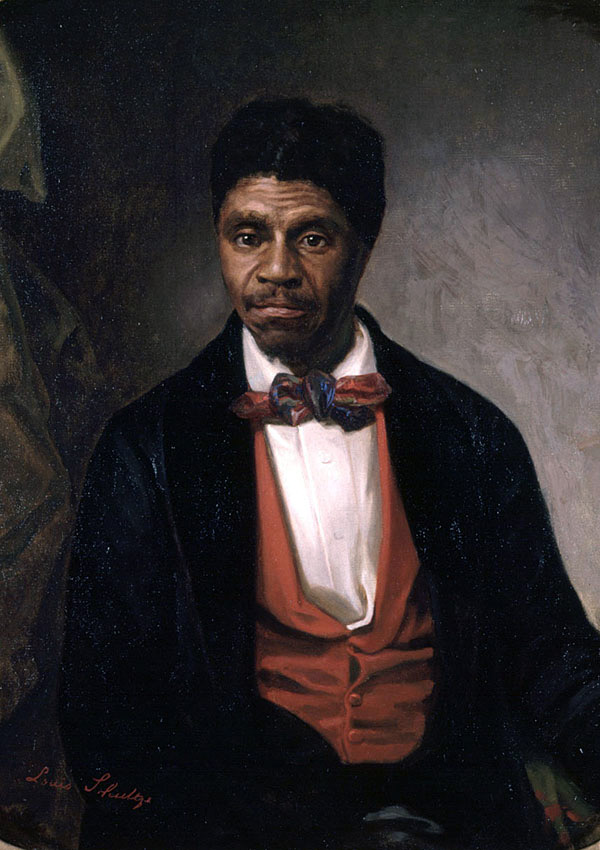 Portrait of Dred Scott. Lincoln denounced the Supreme Court decision in Dred Scott v. Sandford as a conspiracy.