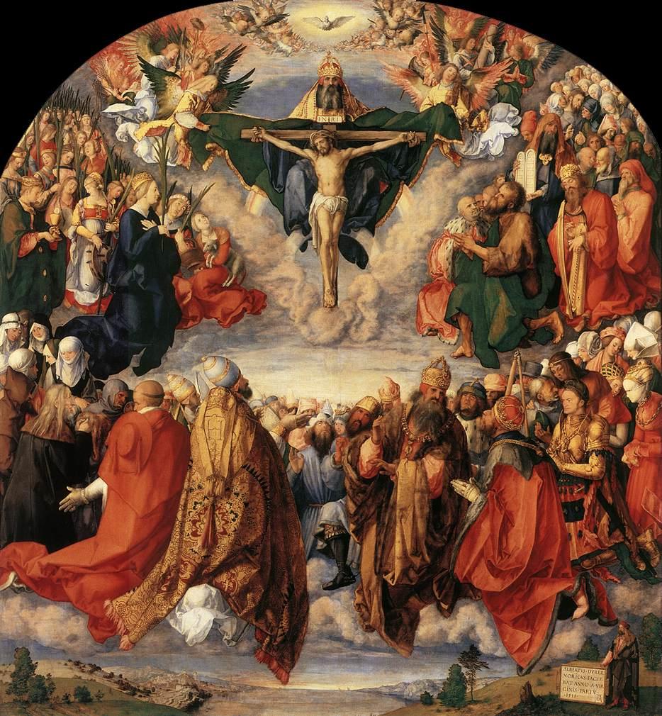 Adorazione della Santissima Trinità -1511 -Durer