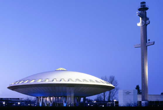 The Evoluon conference center.