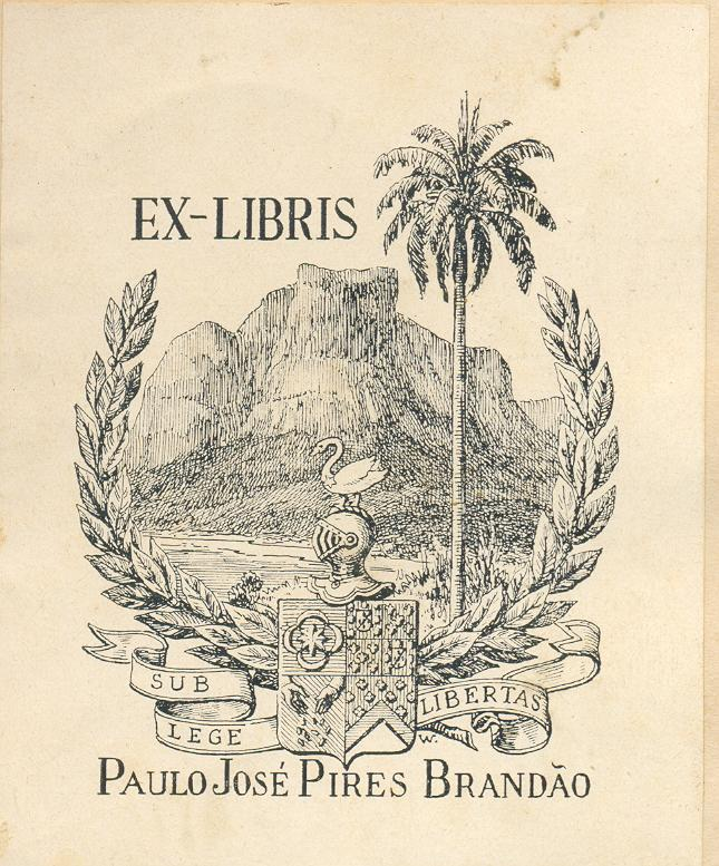 EX LIBRIS José triado/Valon Spanish Art Nouveau Bookplate ART NOUVEAU #5