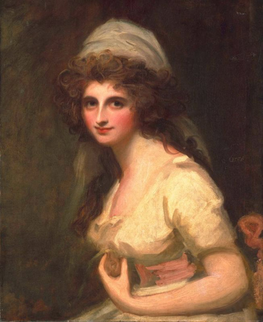 File:George Romney - Emma Hart, later Lady Hamilton, in a White Turban.jpg